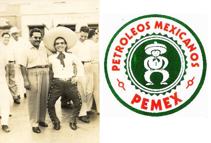 Margarito el liliput y el Charrito Pemex