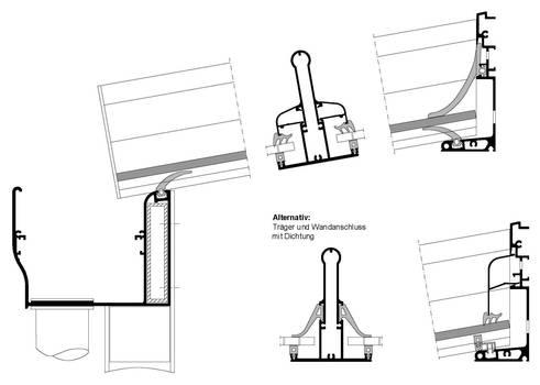 Схема узлов для крыш террас и навесов