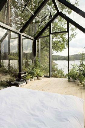 спальня в зимнем саду