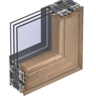 теплое алюминиевое окно Ренарс