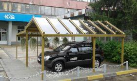 стеклянный навес в Киеве для авто