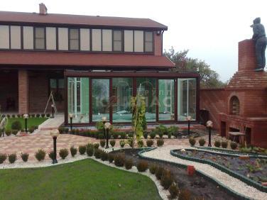 проекты домов с зимним садом и бассейном
