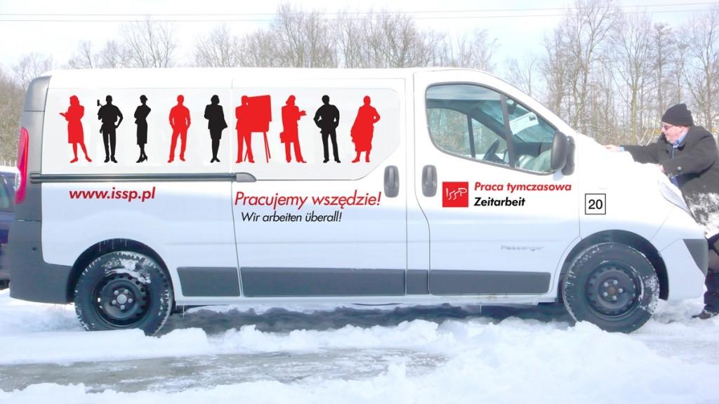 Grafika reklamowa na samochodzie ISSP