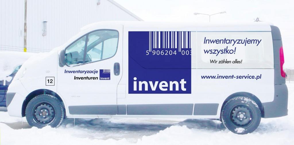 Grafika reklamowa na samochodzie INVENT
