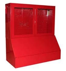 26 2 - Стенд противопожарный (с сеткой;с окнами; без окон) с ящиком для песка 0.3куб. серия Т