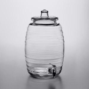 2.5 Gallon Barrel Glass Beverage Dispenser