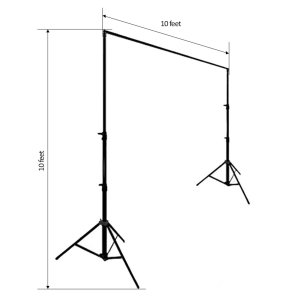 10FT x 10FT Adjustable Heavy Duty Pipe Backdrop Stand