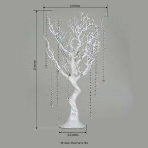 Battery Operated Glittered Manzanita Tree Centerpiece With LED Lights