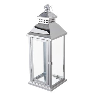 19″ Prism Top Stainless Steel Lantern Centerpiece