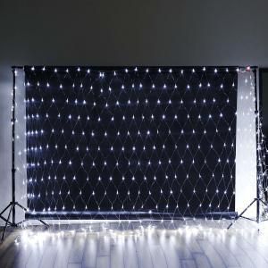 20FT x 10 FT | 600 Bright Blue LED Net String Lights