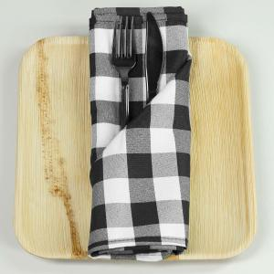 Checkered Gingham Polyester Napkins