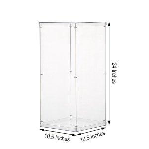 24″ Clear Acrylic Pedestal Riser