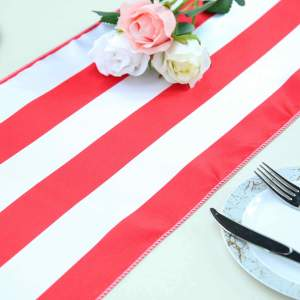 12″ x 108″ Stripe Satin Table Runners