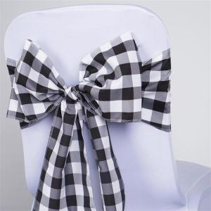 Buffalo Plaid Checkered Polyester Chair Sash