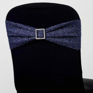 Metallic Shiny Glittered Spandex Chair Sash