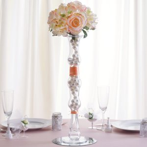 20″ Pillar Trumpet Glass Vase