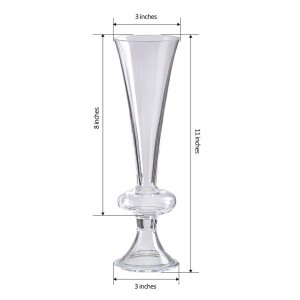 11″ Reversible Crystal Ball Trumpet Glass Vase