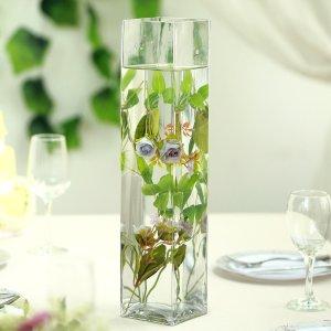 18″ Heavy Duty Square Cylinder Glass Vase