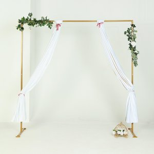 8Ft x 8Ft Gold Metal Wedding Arch