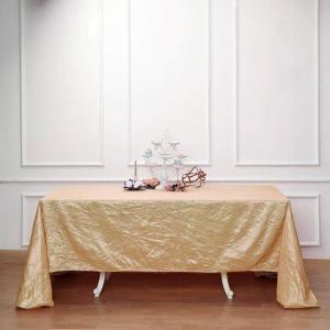 90×132″ Crinkle Crushed Taffeta Rectangular Tablecloth