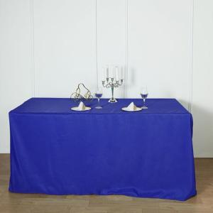 8FT Fitted Polyester Rectangular Table Cover