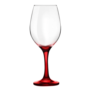 Superior Wine Glass With Red Stem
