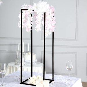 2 Pack | 32″ Matte Black Wedding Flower Stand