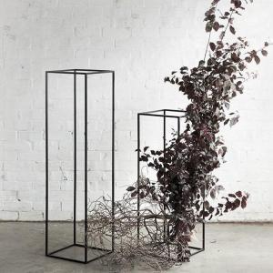 2 Pack | 48″ Matte Black Metal Wedding Flower Stand