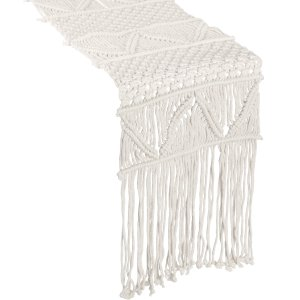 Ivory Macrame Table Runner