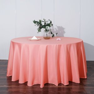 132″ Polyester Round Tablecloth