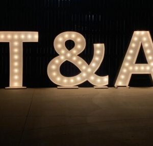 Initials Marquee Letters