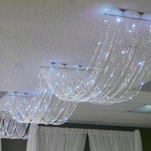 15FT Long Crystal Beaded Ceiling Drape