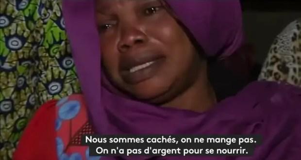 Capture d' ecran de migrants guineens via France 24. Source Globalvoices.org