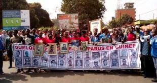 Manifestation des victimes de la dictature de Sékou Touré et de leurs parents