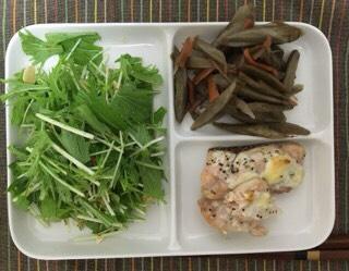 水菜サラダ、きんぴらごぼう|婚活女性から実際に送られてきたダイエットメニュー公開
