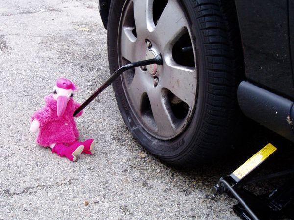 Jak zmienić koło w samochodzie — poradnik dla kobiet Image