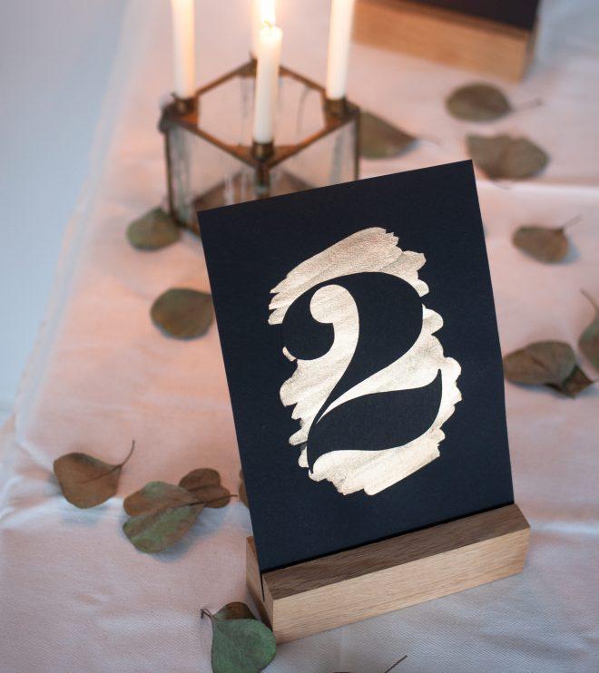 Tischnummern selber machen für eine schöne Hochzeitsdeko