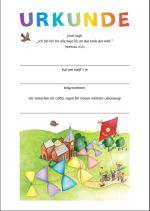 Bearbeitbare Konfi 3-Urkunde