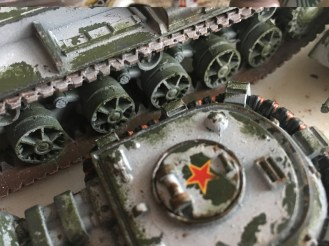 Edge Sponging done on Turrets and Chassis