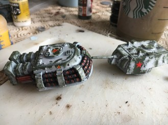 Turret after White and Green Sponging