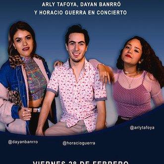 ARLY TAFOYA, HORACIO GUERRA Y DAYAN BANRRÓ EN ESTUDIO DIANA, 28 DE FEB.