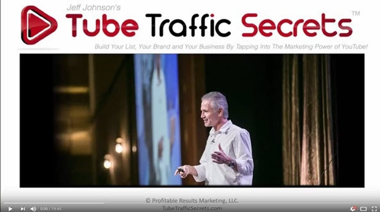 Jeff Johnson's Youtube Traffic Secrets on how to rank in 1st on google