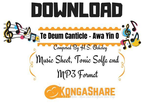 Download Te Deum Canticle Music Sheet - Awa Yin O Olorun PDF