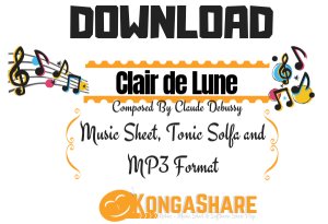 Download Clair de Lune sheet music for Piano By Claude Debussy_kongashare.com_mmh