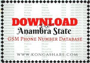 Download Free Anambra State GSM Phone Number Database