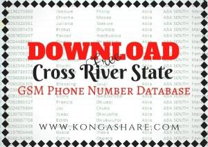Download Free Cross River State GSM Phone Number Database kongashare