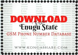 Download Free Enugu State GSM Phone Number Database kongashare.com..m-min