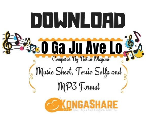 o ga ju aye lo sheet music