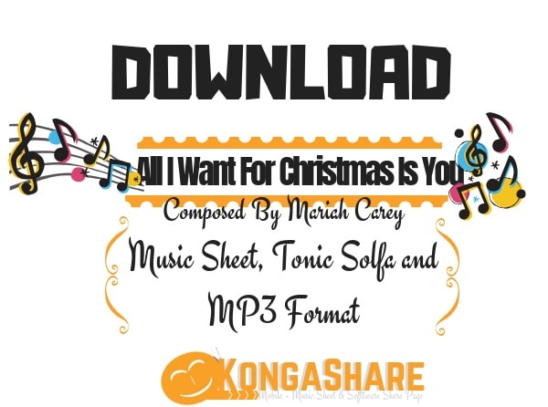 Download All I Want For Christmas Is You Music Sheet by Mariah Carey