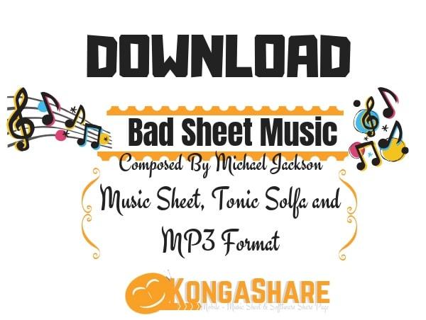 Download Bad sheet music - Michael Jackson sheet music